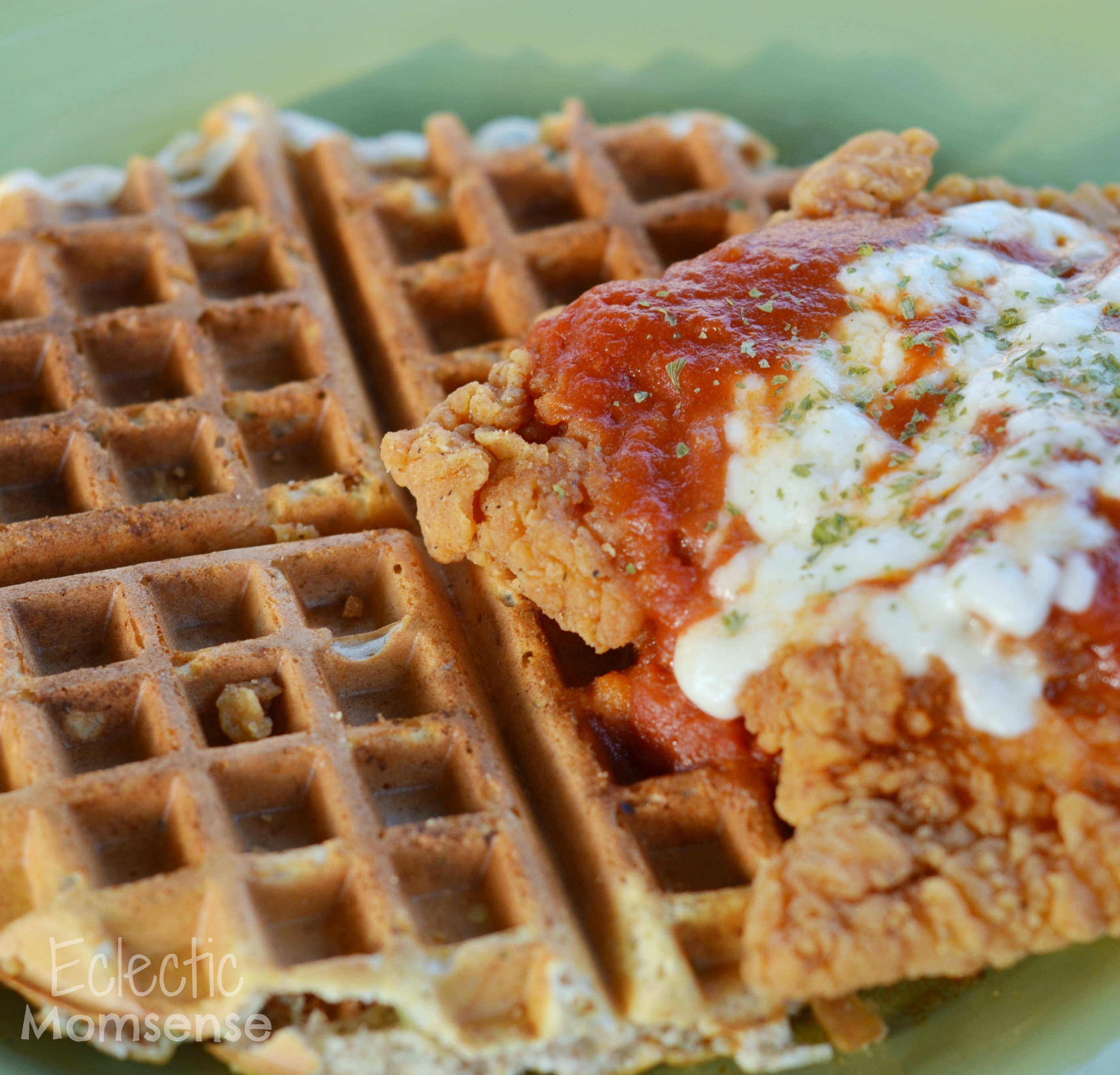 father's day brunch, #NewTraDish, Parmesan Chicken, Oven baked, Chicken & waffles, Ragu