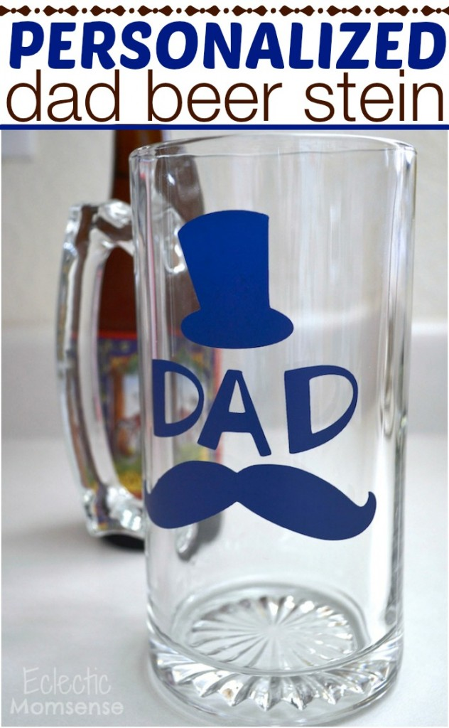 personalized DAD beer stein