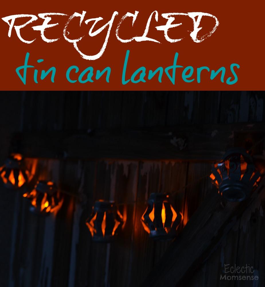 Recycled Tin Can Lanterns- #shop, #cbias, #BackyardBash