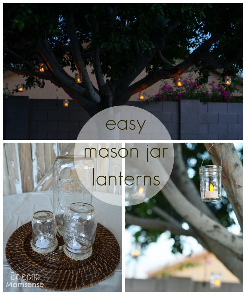 Easy Mason Jar Lanterns- #shop, #cbias, #BackyardBash