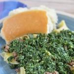 Kale Pesto with Beef Noodles- #pasta #recipe #kale