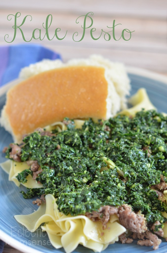 Kale Pesto with Beef Noodles- #pasta #recipe #kale