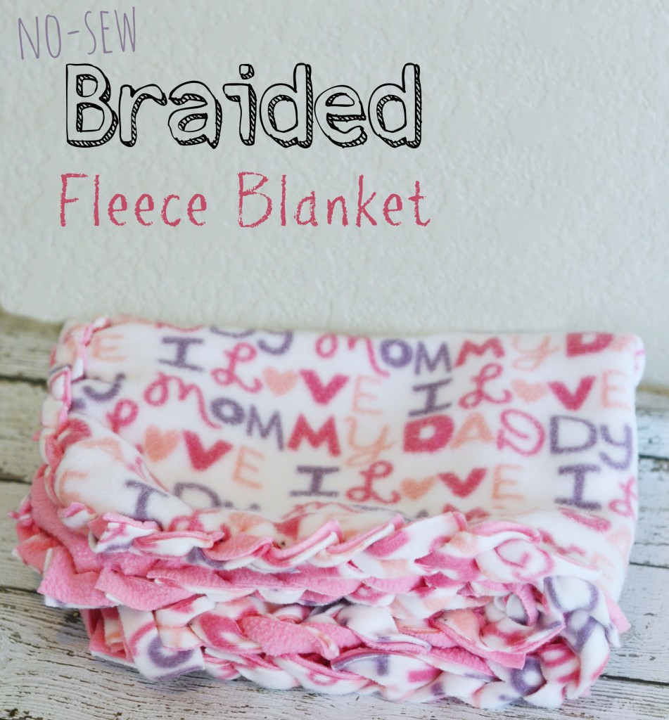 no-sew braided fleece blanket