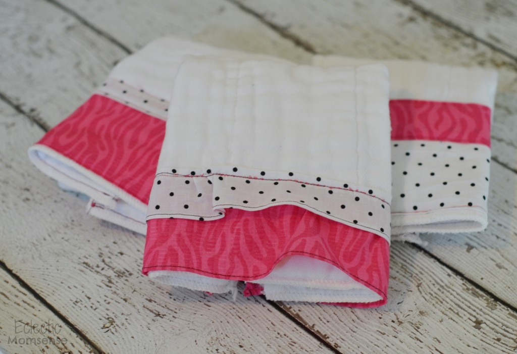Easy DIY Cloth Diaper Burp Cloths