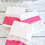 Easy DIY Cloth Diaper Burp Cloths