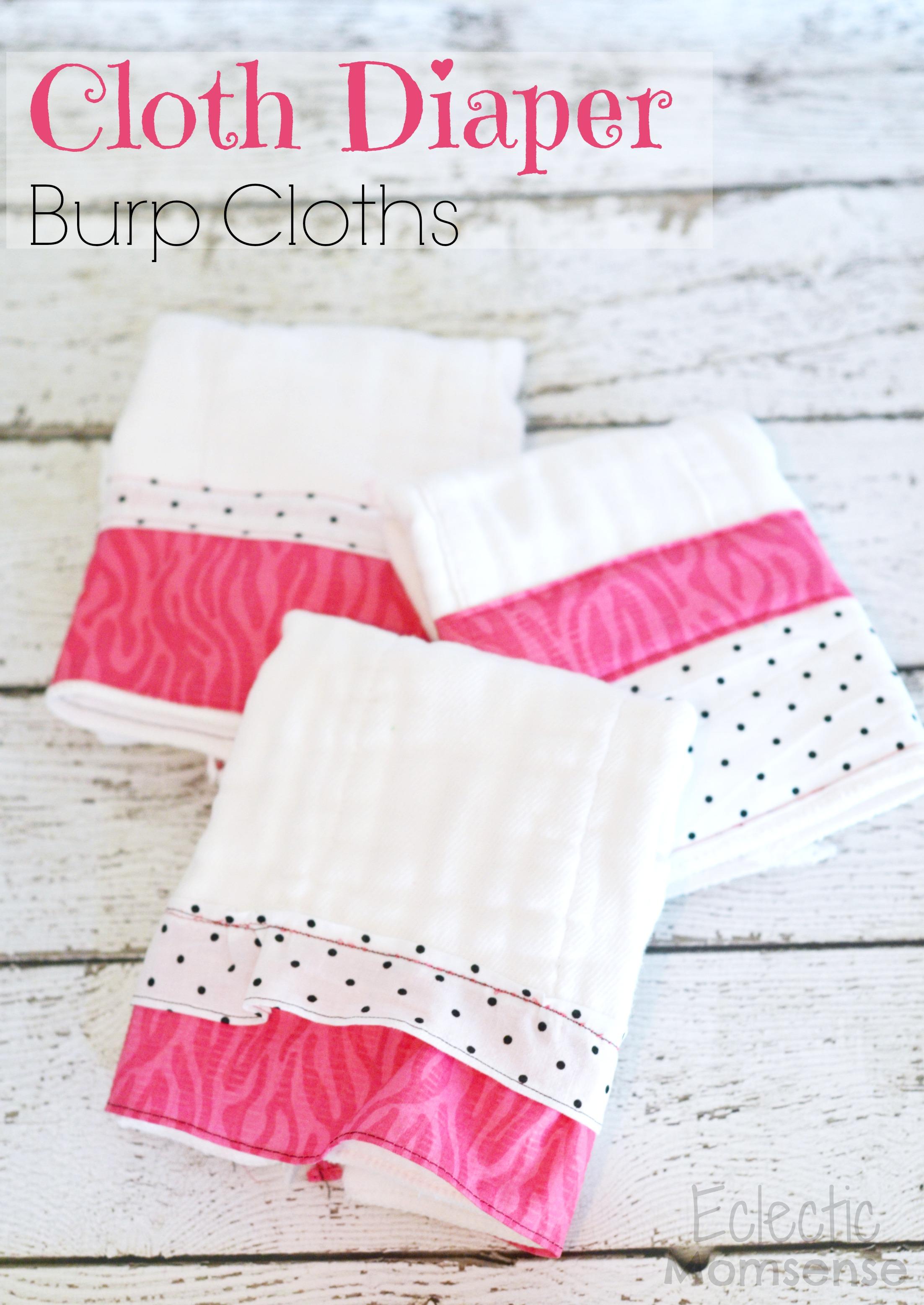 Cloth Diaper Burp Cloths Eclectic Momsense