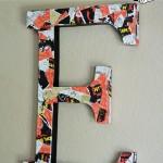 Mickey Decoupage Cardboard Letter