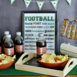 Game Time Football Party Snack Station #sponsored