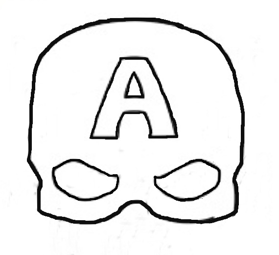 photo regarding Captain America Mask Printable titled Tremendous Uncomplicated Felt Captain The us Mask - Eclectic Momsense