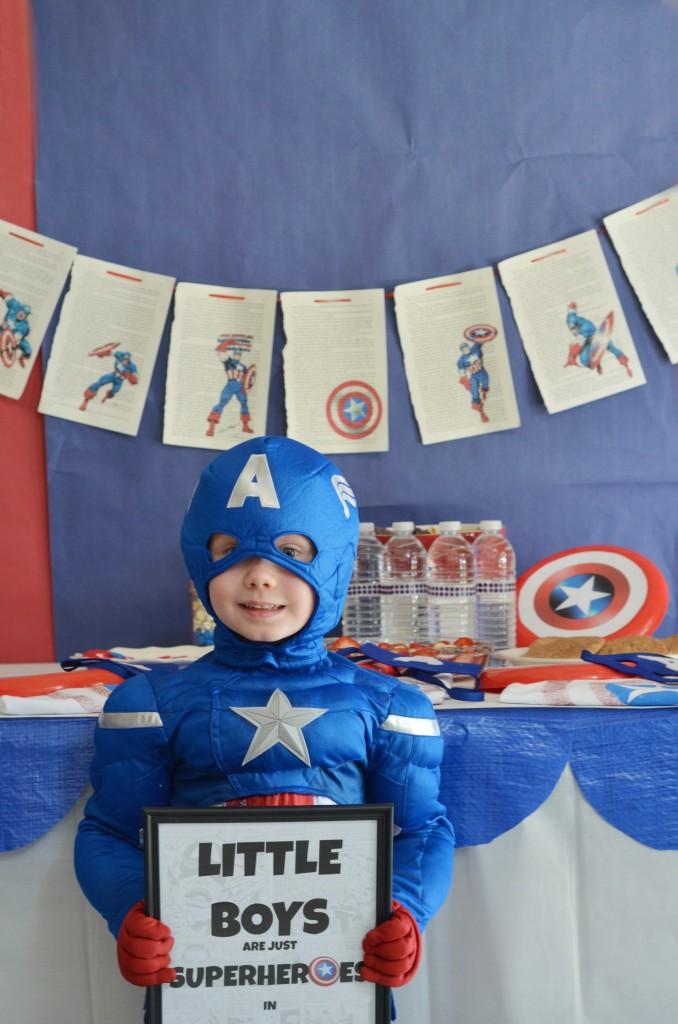 little boys are superheroes