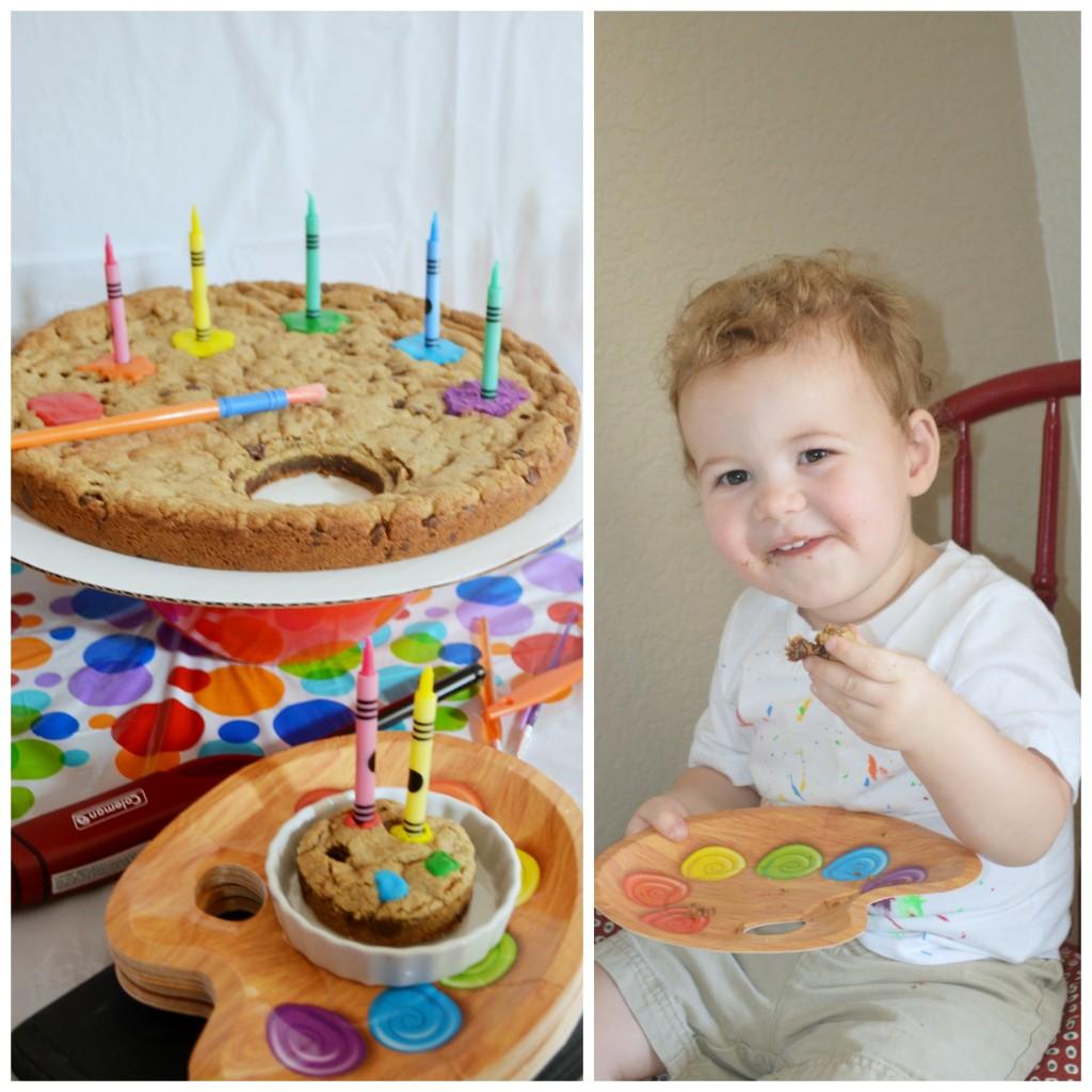 paint palette cake plates