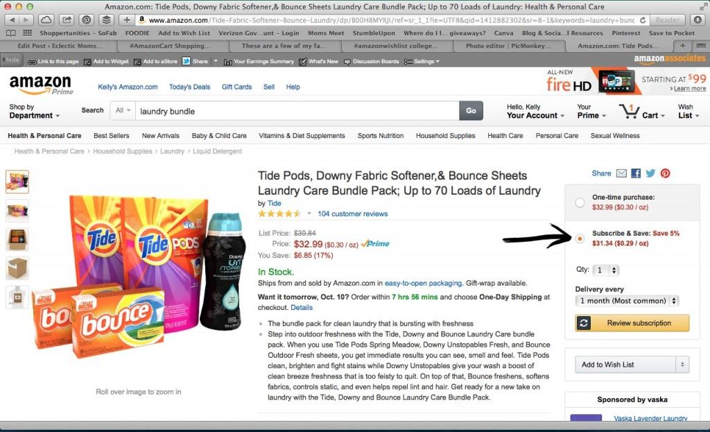 Amazon Subscribe & Save- #AmazonHasIt, #AmazonWishList, #cbias, #shop