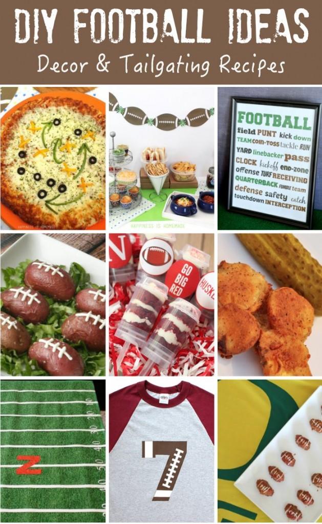 DIY Football Decor & Recipes