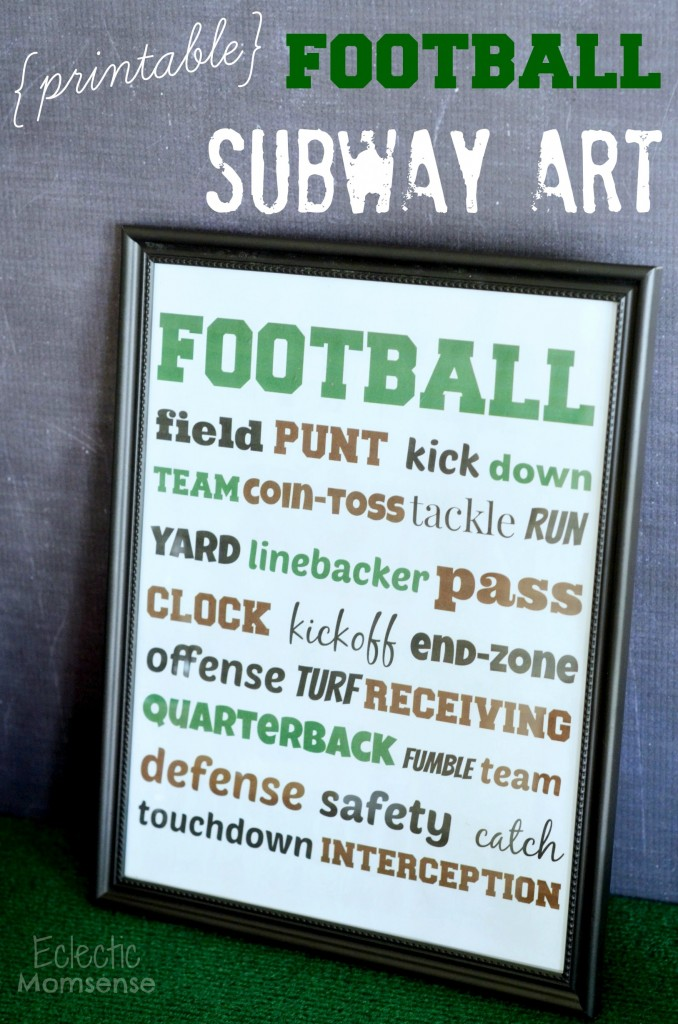 printable football subway art