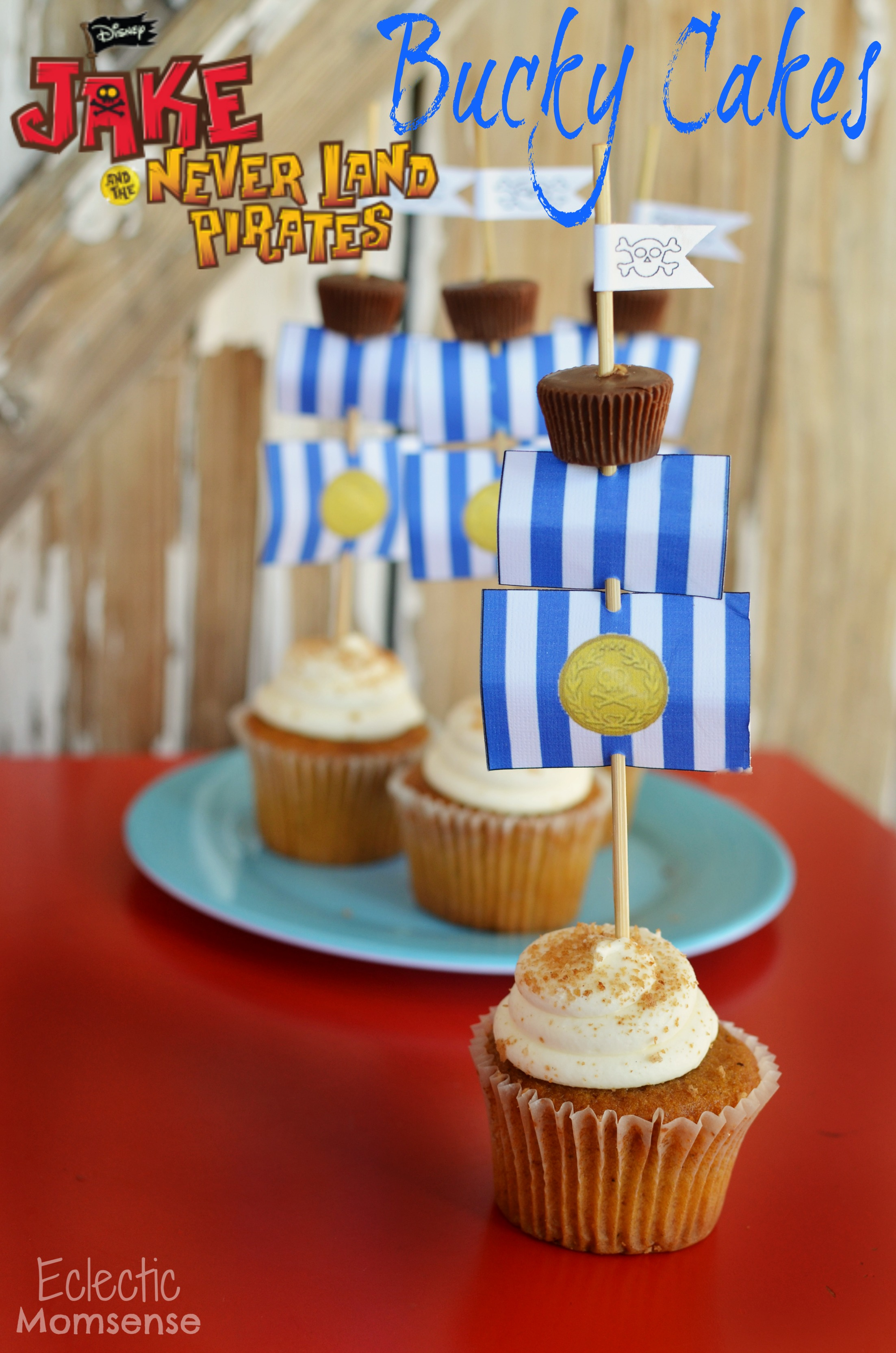 Tremendous Jake And The Neverland Pirates Bucky Cupcakes Eclectic Momsense Personalised Birthday Cards Fashionlily Jamesorg