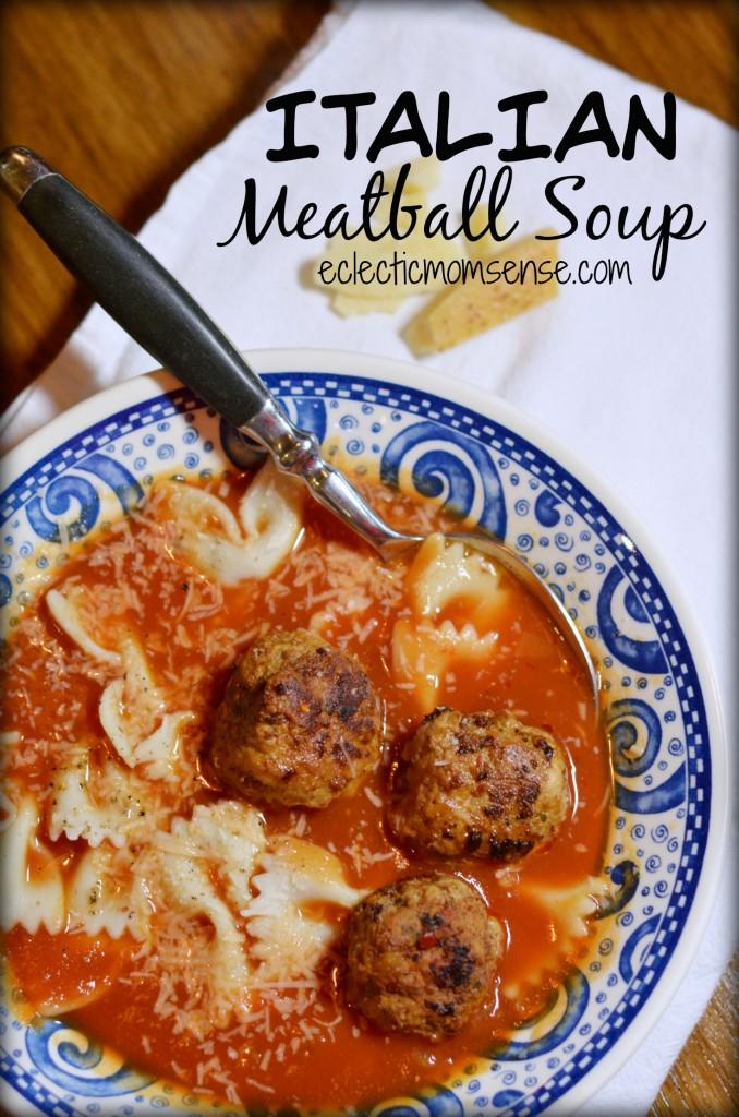 Italian Meatball Soup|EclecticMomsense.com #soup #recipe #meatballs #Italian