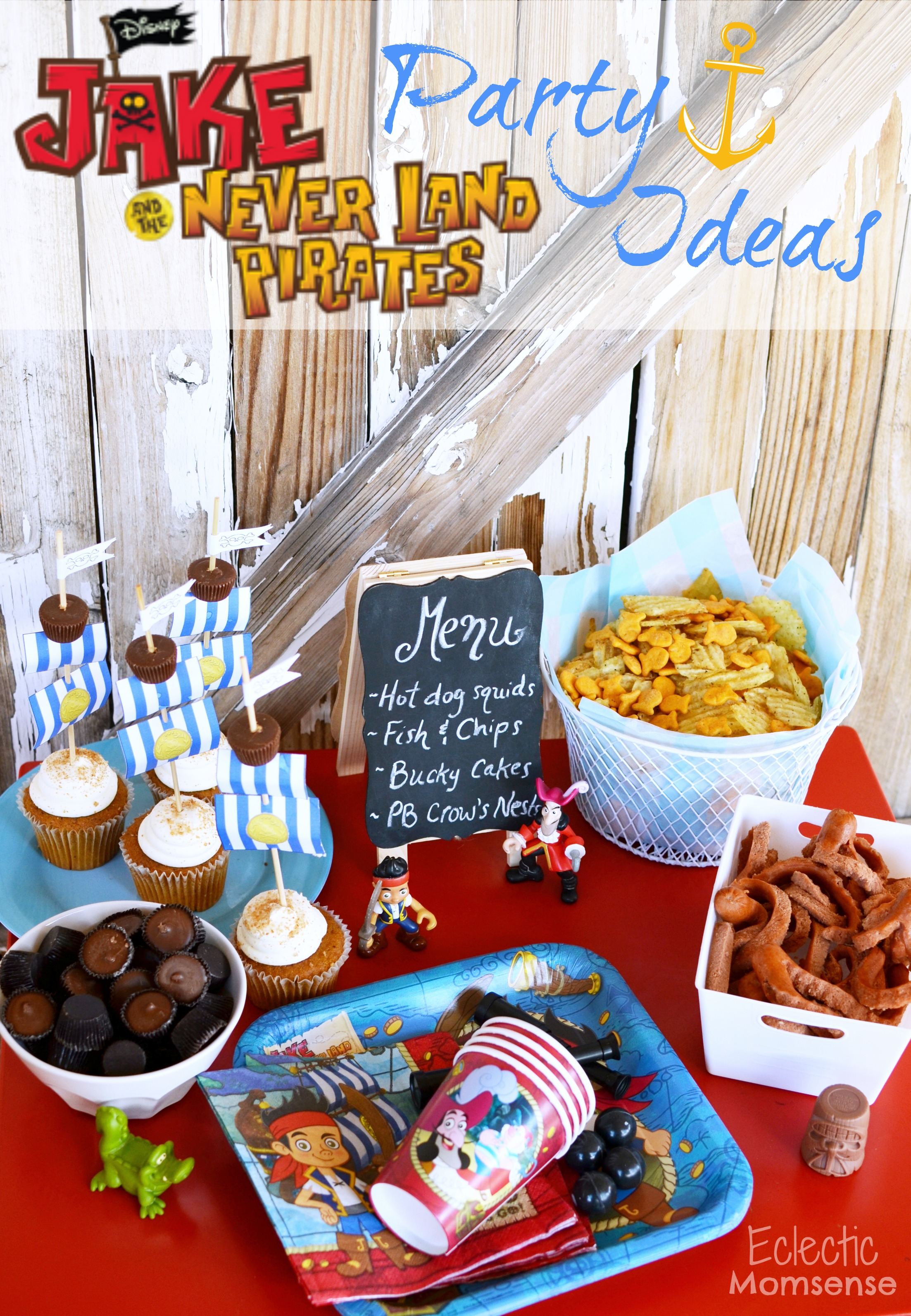 Peachy Easy Jake And The Neverland Pirates Party Ideas Eclectic Momsense Personalised Birthday Cards Fashionlily Jamesorg