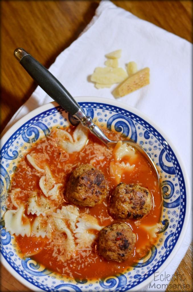 Italian Meatball Soup EclecticMomsense.com #soup #recipe #meatballs #Italian
