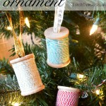 Thread Spool Ornament #craft