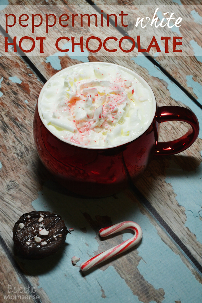 White Peppermint Hot Chocolate #recipe