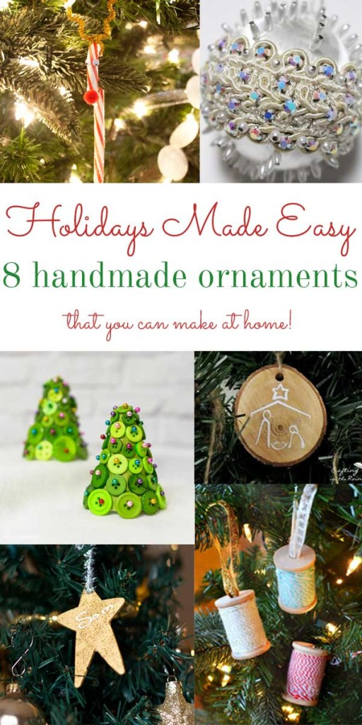 Handmade Ornament Roundup #craft #christmas #ornament
