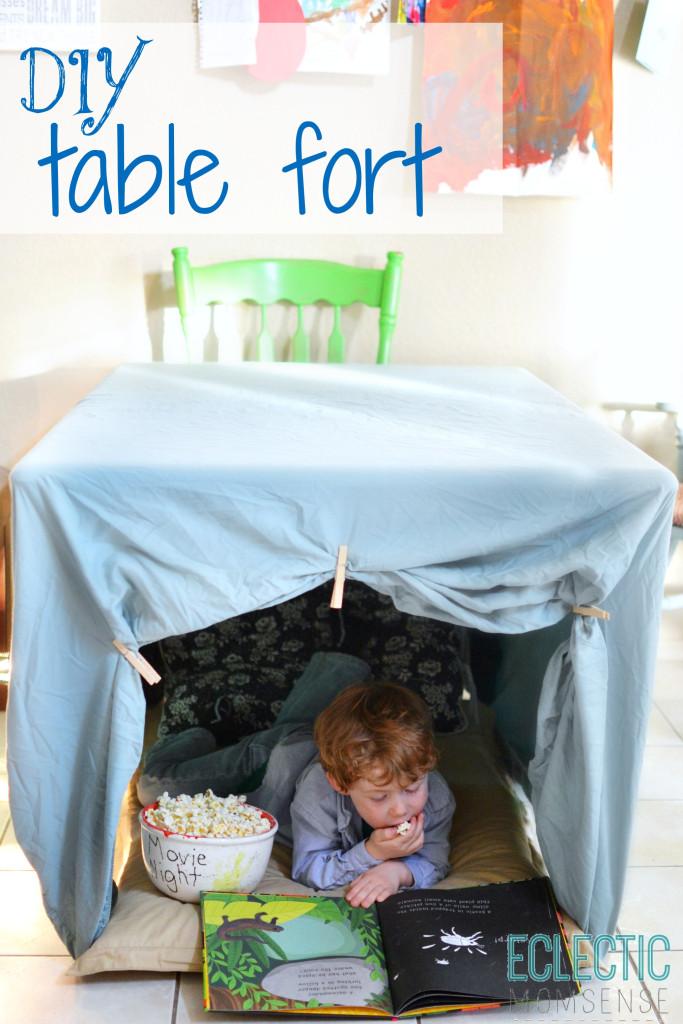 DIY Table Fort #PopSecretFort #sponsored