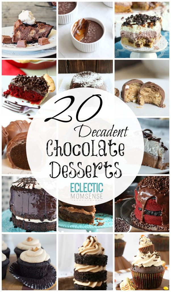 20 Chocolate Desserts for Valentines Day #sponsored