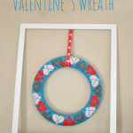 Framed Valentines Day Wreath