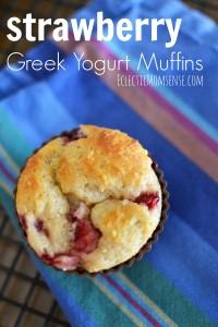 Strawberry Greek Yogurt Muffins