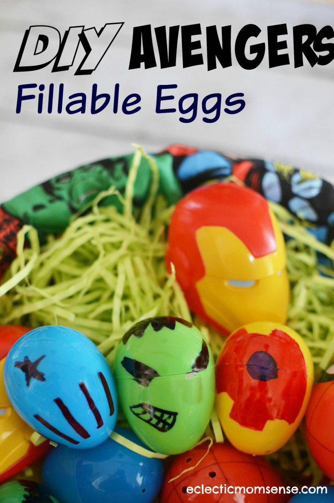 Be a #DisneyEaster superhero with a fun Marvel Easter basket and custom Avenger eggs.