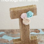Jute Wrapped Monogram Letter
