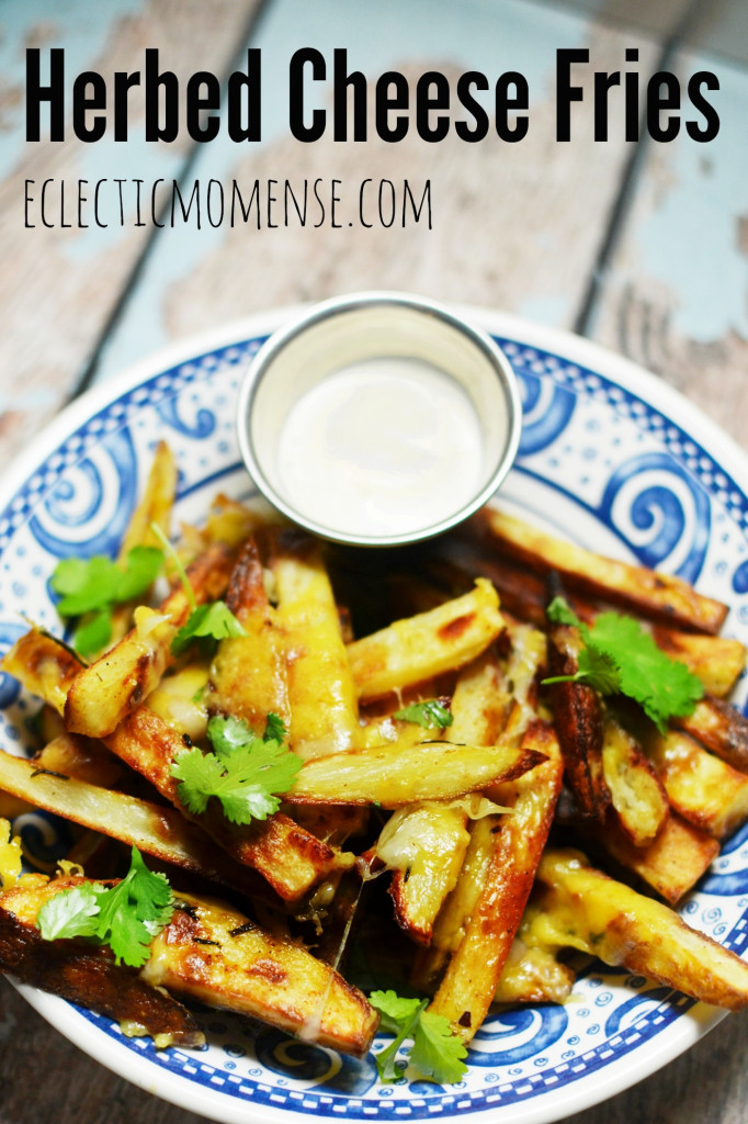 Herbed Cheese Fries | Eclectic Momsense #recipe #appetizer