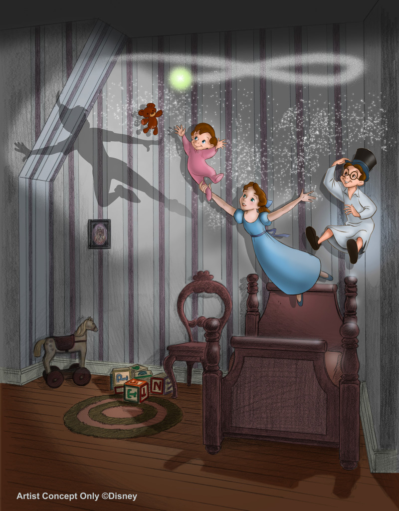new magicÓ brings a reimagined nursery scene to life in Peter PanÕs Flight. The classic Disneyland park attraction also will feature new special effects when it reopens in May 2015.  #Disneyland60