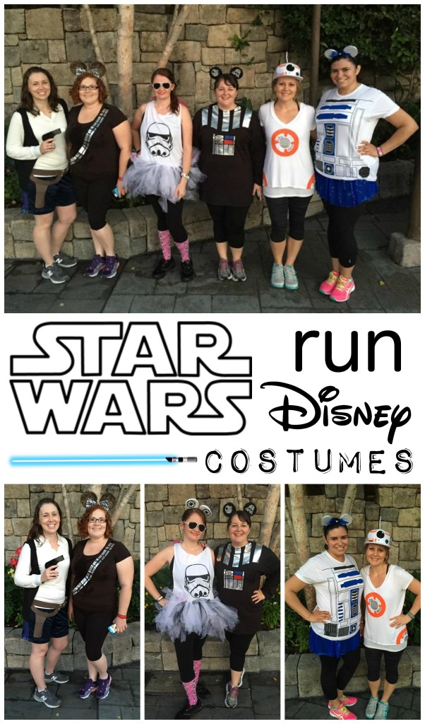Star Wars Run Disney Costumes- Directions for an easy Chewbacca shirt and Mickey Ears. Links included for the rest of the rebels, droids, and Imperial forces. | #StarWars #Disney #RunDisney