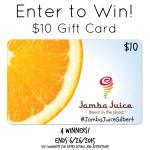 Jamba Juice Gift Card #Giveaway ending soon. #win #JambaJuiceGilbert