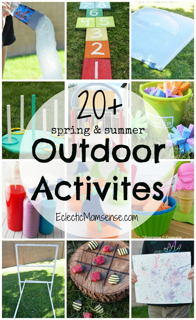 Boredom busters for summer & spring. A huge collection of easy and inexpensive outdoor activities.