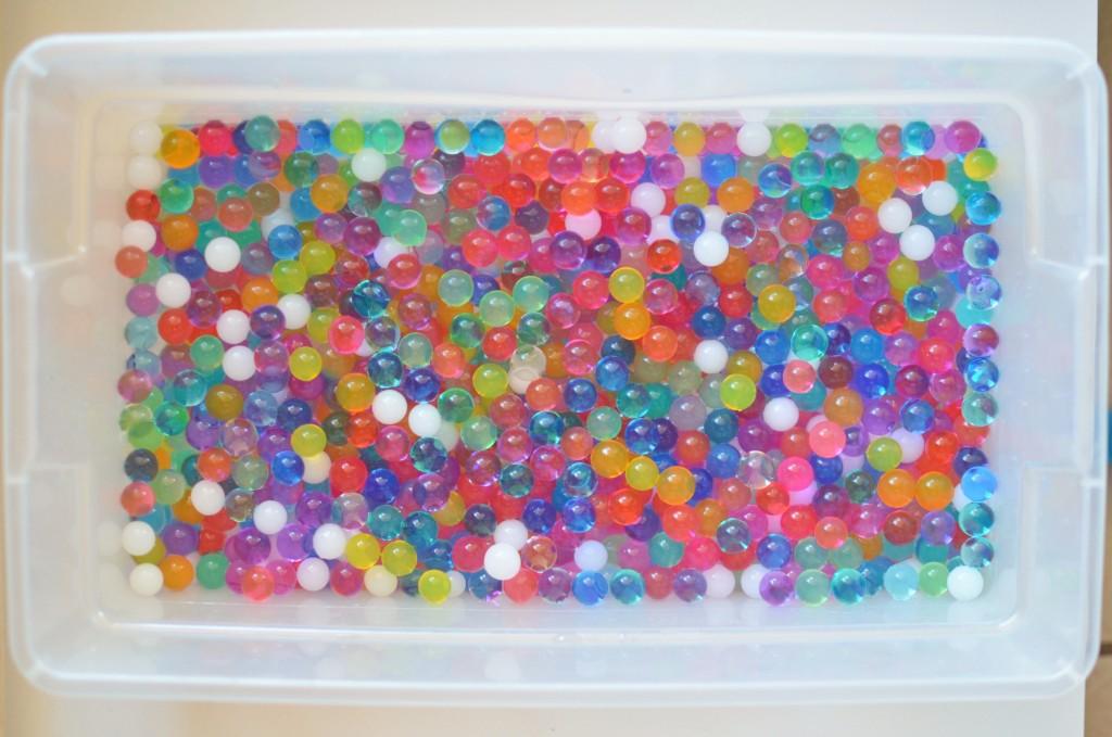 Memory Sensory Bin   Inside Out Water Bead Sensory Play