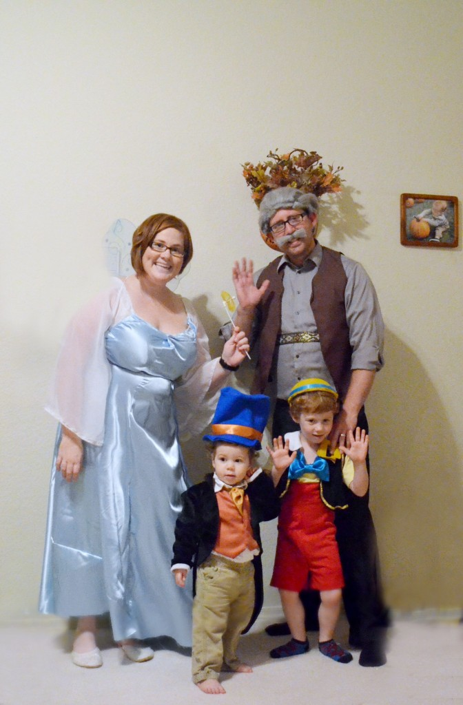 DIY Pinocchio Family Halloween Costume