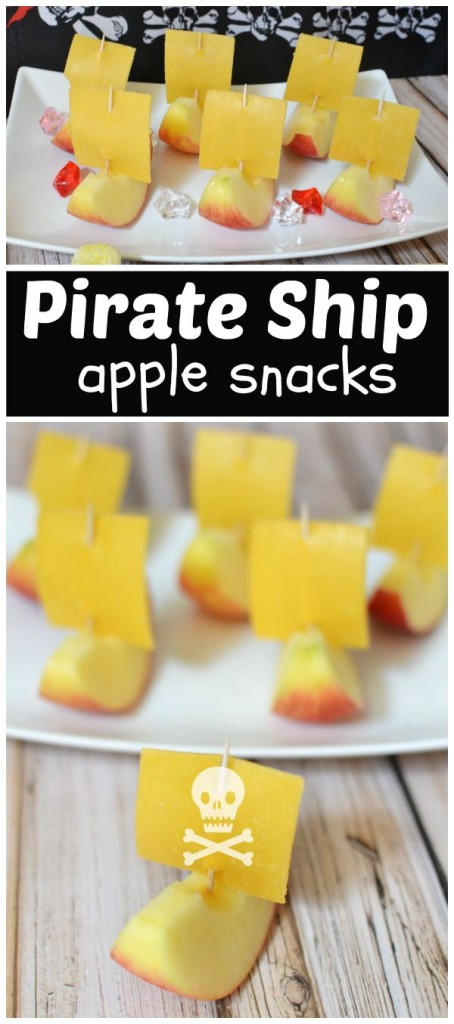 Pirate Ship Apple Snacks | #talklikeapirateday #piratebooty [ad]