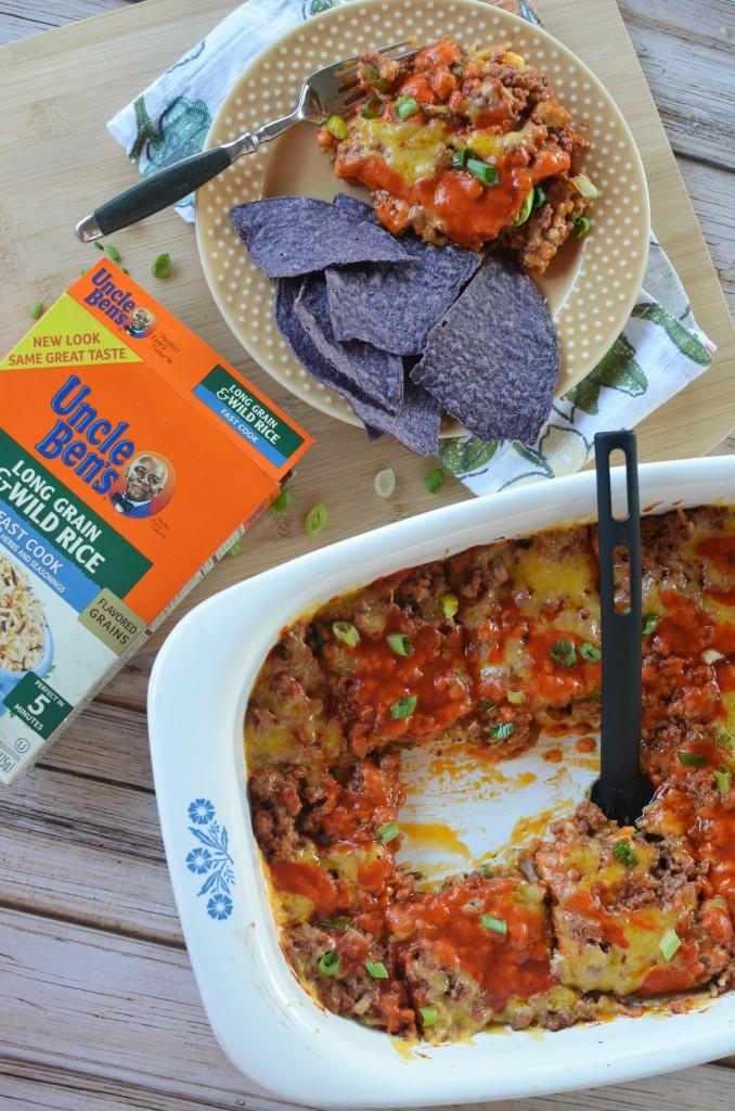 Enchilada Taco Bake #justaddrice [ad]