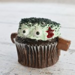 Monster Mint Frankenstein Cupcakes