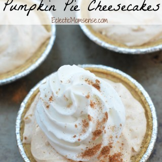 Mini no-bake Pumpkin Pie Cheesecakes