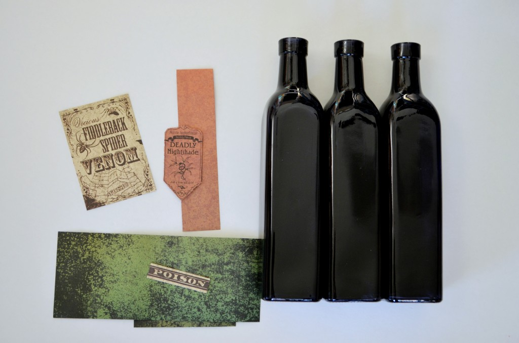 DIY Poison Bottles supplies