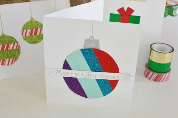 Easy Washi Tape Holiday Cards Eclectic Momsense