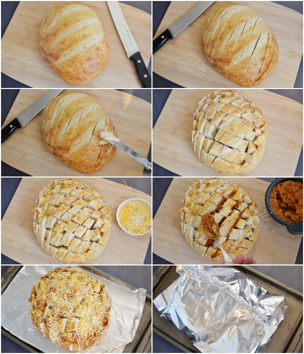 Chili Cheese Pull Apart Bread