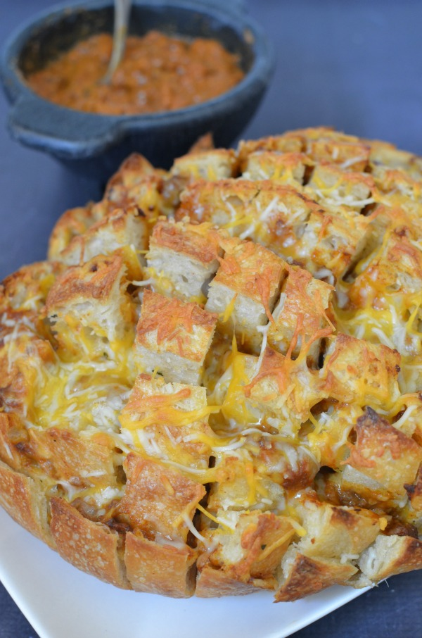 Chili Cheese Pull Apart Bread
