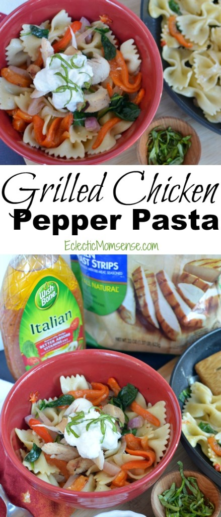 [ad] Grilled Chicken and Pepper Pasta|convenient meal solution to meet your mealtime needs. #recipe #OneBowlWonder