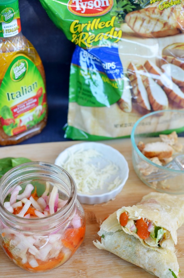 [ad] Italian Grilled Chicken Wrap|convenient meal solution to meet your mealtime needs. #recipe #OneBowlWonder