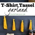 Simple tutorial for a DIY T-shirt Tassel Garland! Makes gorgeous and festive decor for home-gating parties, baby showers, birthday parties, or as an addition to your seasonal decor.