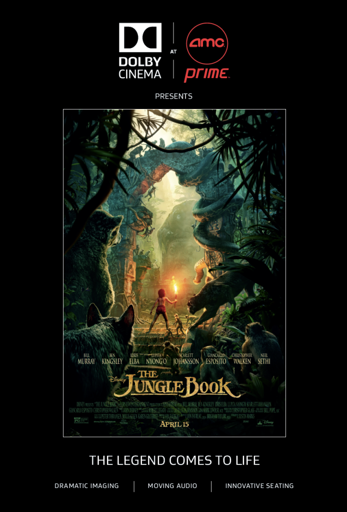 Let the adventure begin with a chance to see The #JungleBook at #DolbyCinema #ShareAMC Desert Ridge 4/16!